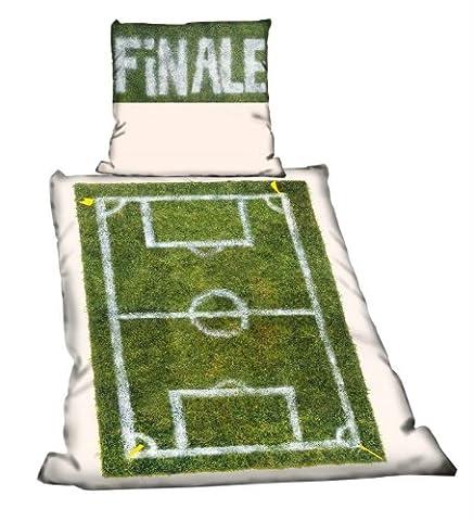 FINALE Fanartikel Bettwäsche Linon für Fussballfans mit Reißverschluss