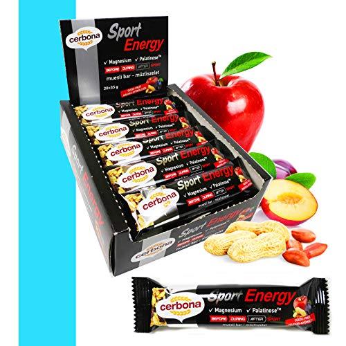 Cerbona Sport Energy Samen-Früchte Müsliriegel mit Magnesium 20x35g