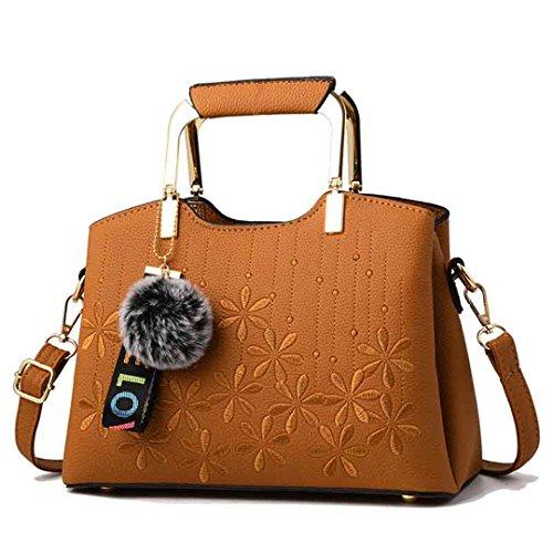Frauen Taschen Großhandel Handtaschen Wild Komfortable Casual Freizeit Persönlichkeit Trend Brown 27x18x13cm