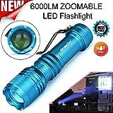 Linterna LED, Xinan 6000LM CREE Q5 AA / 14500 3 Modos...