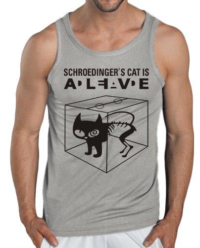 Touchlines Tank Top - Schroedingers Cat Is Alive-Canotta Uomo,    grigio Large