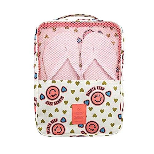 Damara® Unisex Schuhaufbewahrung Aufbewahrungstasche Mit Süß Mustern,Grün Pink