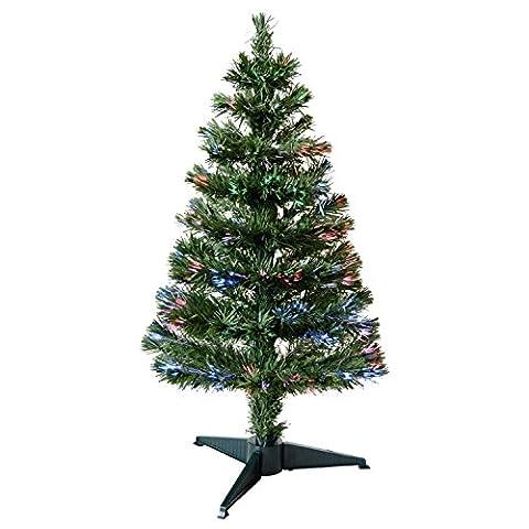 Innen, Motiv Bunte Glasfaser Weihnachtsbaum mit Ständer, Grün oder Weiß, Versch. Größen, weiß, 5' (150cm)