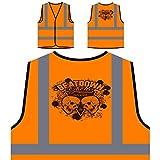 Beatdown Ghetto Skulls Personalizzato Hi Visibilità Giacca Gilet Arancione di sicurezza u398vo