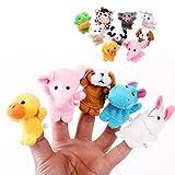 Cinlla Niedlich Karikatur Tier Fingerpuppen für Kindergärten Home Baby Früherziehung, Weicher Samt Spielzeug für Kinder, 10pcs Animal Puppen