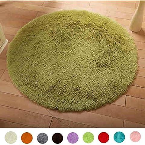 60cm de la felpa suave para no Slip Mat Ronda Pure Color Inicio Piso Moqueta Habitaciones lanudo de la manta