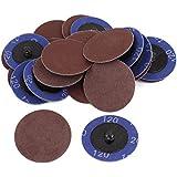 Ponceuse Grain 120 50 mm de diamètre de 6 Patins de nettoyage pour disques plastiques