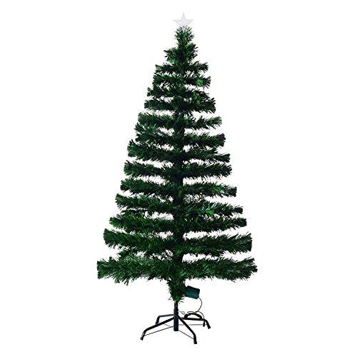 Árbol de Navidad Pino Abeto 150 cm Fibra Optica Multicolor INCLUYE Soporte...