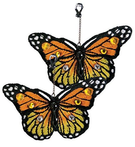 (Ohrringe Schmetterling, sortierte Farben, Karneval, Accessiore (orange))