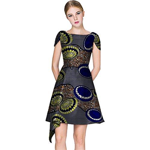 afrikanische frauen kleid dashiki ball ballkleid wachs stoff mädchen blumen formalen rock1 5X