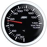 JOM 21116SW Manomètre, température d'eau (40~140°C), noir, échelle à LED blanc, fonction veilleuse, Ø52mm