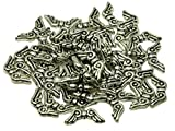 Engelflügel Acrylperlen Kunststoff Schmuckperlen Bastelperlen Spacer Engel Fee Flügel antik silbern 21x8mm 50 Stk