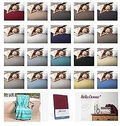 Bella Donna Jersey Spannbettlaken mit GRATIS Saunatuch in 140x200 cm bis 160x220 cm Farbe: 0115-champignon