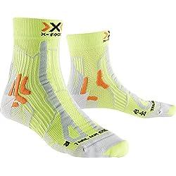 X-Socks Hombre Trail Run Energy Man calcetín, hombre, TRAIL RUN ENERGY MAN, GreenLime/Pearl grey
