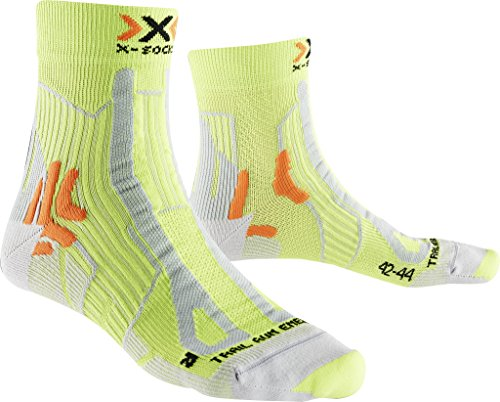 X-Socks Herren Socken TRAIL RUN ENERGY MAN, GreenLime/Pearl grey, 45/47, X100107