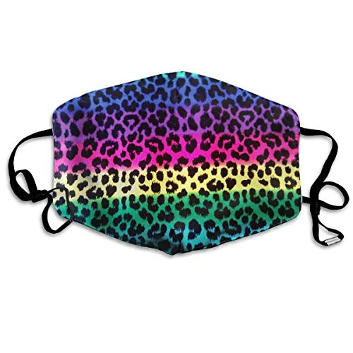 Colorful Cheetah Leopard PM 2.5 Anti Pollution Mask Military Washable Dust Respirator Cotton Mouth Masks with