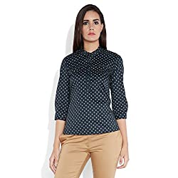 Park Avenue Woman Tie-Waist Top (PWAL00747-K8_Black_81)