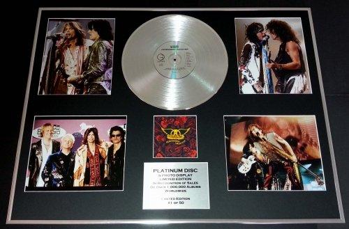 AEROSMITH/GIGANTIC Platin-Schallplatte/RECORD & Foto-Darstellung/Limitierte Edition/COA/PERMANENT VACATION (Aerosmith Sammlerstücke)