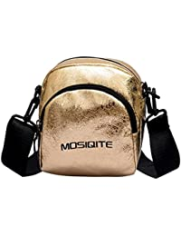 OYSOHE Frauen Tasche Burst Crack Leder Umhängetasche Messenger Bag Umhängetasche