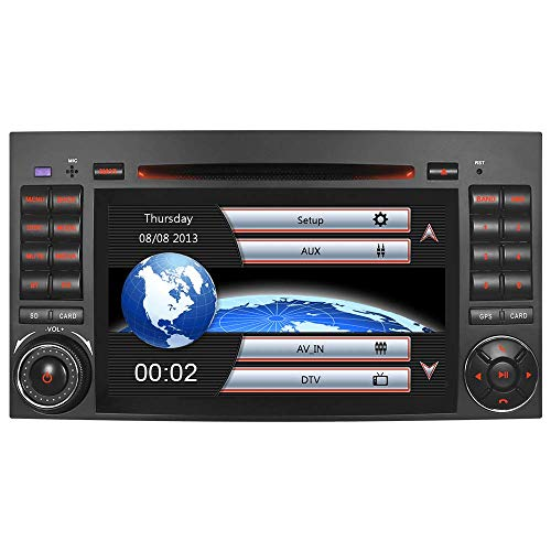 "7"" AUTORADIO MIT 3G DVD GPS Navigation NAVI USB SD Bluetooth Autoradio CD Moniceiver Naviceiver CANBUS Dual Zone Subwoofer DAB für Mercedes Benz A/B Klasse Sprinter Vito Viano"