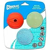 Chuckit Fetch Medley Asst Ball 3Piece Dog Random Color Size M