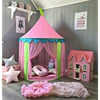 Princess Castle Play Tent for Girls Indoor & Outdoor Use, Pink Sheer, by Huhu Cat …