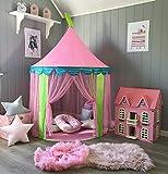 Tiny Land Tente d'enfants pour Princess Filles, Tente Pliable pour Jouer à l'extérieur comme à l'intérieur (Rose)