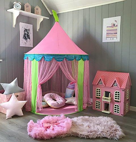 Prinzessin Rosa Spielzelt Kinder Spielhaus, Mädchen Partei Schloss, von Tiny Land - Mädchen-partei
