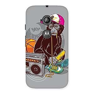 Radio Monkey Back Case Cover for Moto E 2nd Gen