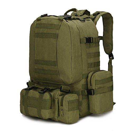 Borse a tracolla per gli uomini della outdoor alpinismo sacchetti combinazione multifunzionale camouflage zaino borsa per computer 50*37*21cm, nero modello python Army green