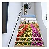 SERFGTFH Treppen Aufkleber Meer Holz Brücke Sun 3D Treppe Aufkleber Boden Wand Dekor Aufkleber Wohnzimmer Dekoration