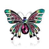 LUFA Rhinestone Schmetterlings Brosche Anstecknadel Bunte Frauen Kleid Hochzeits Brautbrosche Anstecknadelbuttons