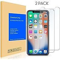 Vetro Temperato iPhone X/10 Pellicola Protettiva[2 pack],GeekerChip Pellicola Protettiva Schermo in Vetro Temperato per iPhone X/10
