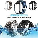 Bearbelly Armband Kompatibel mit Tomtom Adventurer/Golfer 2 / Runner 3 Tarndruck Silikon Wasserdicht Atmungsaktiv Einstellbar Business Sport Ersatz-Uhrenarmband Damen Herren-Kettenriemen -