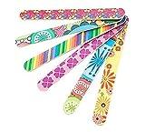 10 PCS Colorful Floral Print Nail Dateien doppelseitig Langlebig Nail Art Maniküre Pediküre Nagelfeile Maniküre Sticks zufällige Farbe