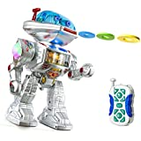 Mayatra's 12 Inch Remote Control Intelligent Dancing And Disk Shooting Robot With LED Lights & Music