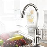Continental Küche nach Maß Zink-Kupfer-Familie Gemüse Waschbecken Wasserhahn Einhand-Einlochmontage Wasserhahn Heiß und kalt Dual-Verwendung In-Wand Waschbecken Wasserspray Wasserhahn