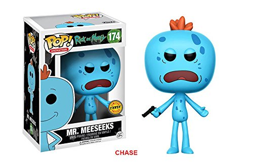 Rick y Morty Mr. Meeseeks Chase Variant Pop! Figura de vinilo de anima