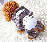 Xiaoyu cucciolo di cane cucciolo di cane animale domestico vestiti felpa cappuccio caldo maglione caldo camicia cucciolo autunno autunno cappotto d' inverno doggy moda abbigliamento tuta da ponte, grigio, S