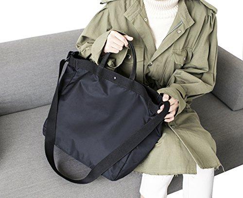 iSuperb Borsa Tracolla Grande Borsone da Viaggio Impermeabile Travel Bag Tracolla per Donna e Uomo 37.5×36.5×14 cm (Grigio) Nero