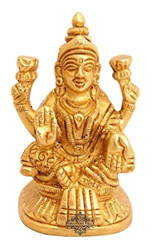 Indianartvilla ottone Laxmi Ji dea Idol | per Induismo religioso Home decorative Temple Puja articolo da regalo