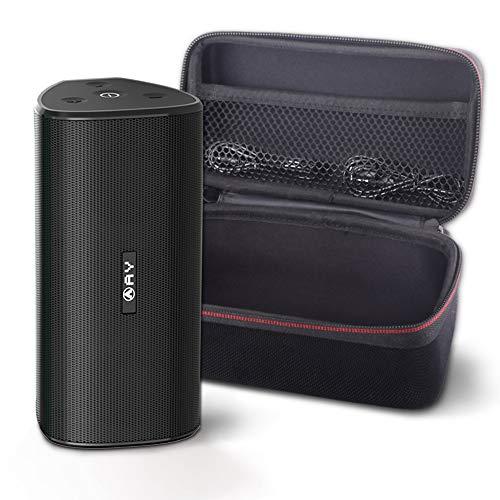 AY 30W Bluetooth 4.2 Enceintes Portables avec étui Rigide, Enceintes sans Fil IPX7 Étanche, Super Bass Sound 360 ° avec TWS, Lecture 24h / 24, Parfait pour Les fêtes et Les Loisirs en Plein Air.