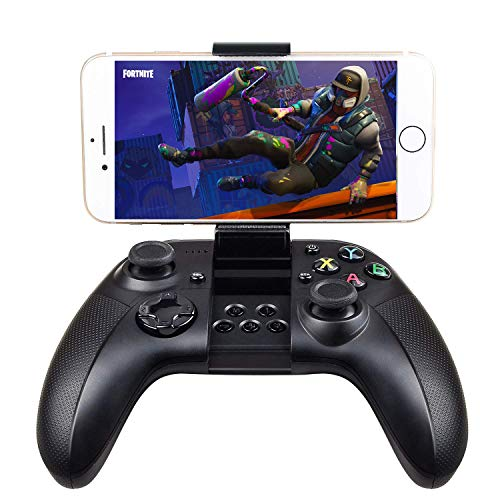 Goodnews-Game-Controller Gamepad Wireless Bluetooth Gaming Joystick Joypad mit Klemmhalterung kompatibel mit iOS/iPhone/iPad/PS4 Remote Play