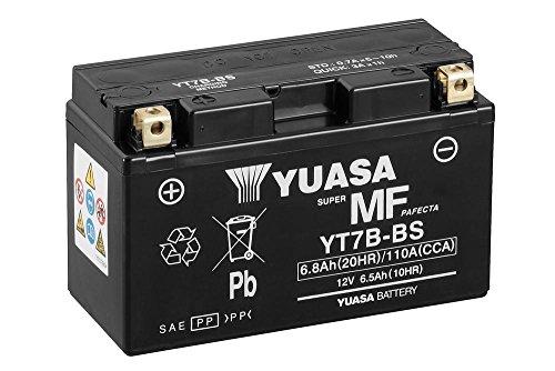Batteria YUASA yt7b-BS, 12V/6,5ah (dimensioni: 150X 65X 93) per MV AGUSTA F3675anno di costruzione 2011
