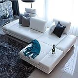 Mobilier Deco Ensemble canapé Sofa en cuir véritable Salon sectionnel Sofa Corner Home Furniture Couch L Forme Dossier fonctionnel Canapé d'angle Banc