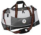 DFB Retro Reisetasche Sporttasche Weekender Tasche Freitzeit Tasche Lizensprodukt (Grau - Weiß 2)