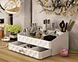 Midmade White Beauty Organizer Jewelry Cosmetic Accessories Make Up Storage Boxes
