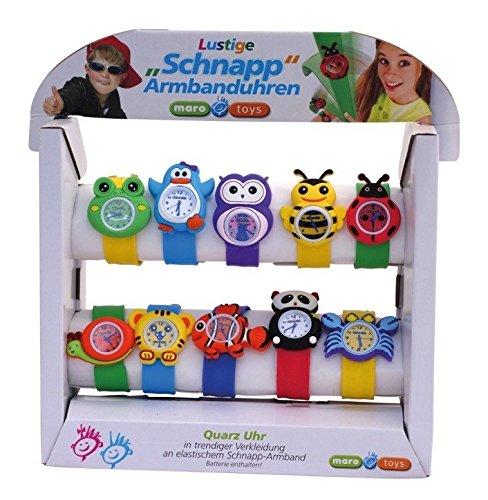 Maro Toys - Juego de 10 Relojes de Mano (2 Piezas)