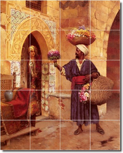 RUDOLF ERNST HISTORICA AZULEJOS MURAL 5  24X 30CM CON (20) 6X 6AZULEJOS DE CERAMICA