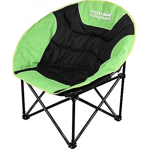 Sport 2000Chill Moon–Silla de camping negro-verde Talla:talla única